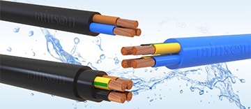 Rubber 3 & 4 Core Round Cables HO7RN-F
